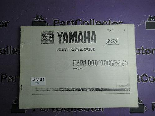 1990 YAMAHA FZR 1000 BOOK PARTS CATALOGUE 103GM-300E1