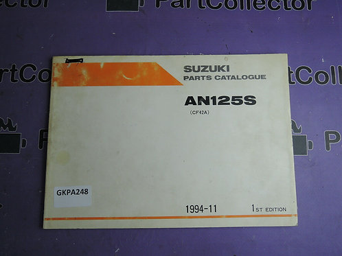 1994-11 SUZUKI AN 125S PARTS CATALOGUE 9900B-20060 GREEK