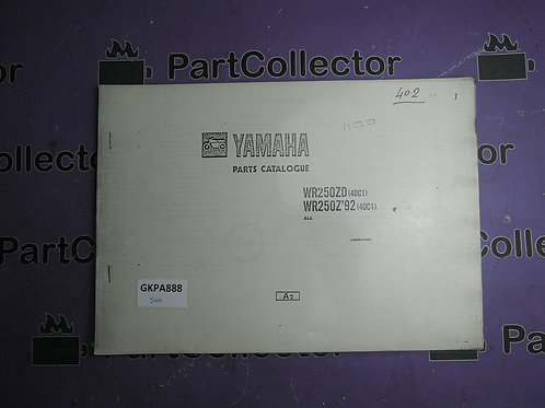 1992 YAMAHA WR 250ZD BOOK PARTS CATALOGUE 124DC-100E1