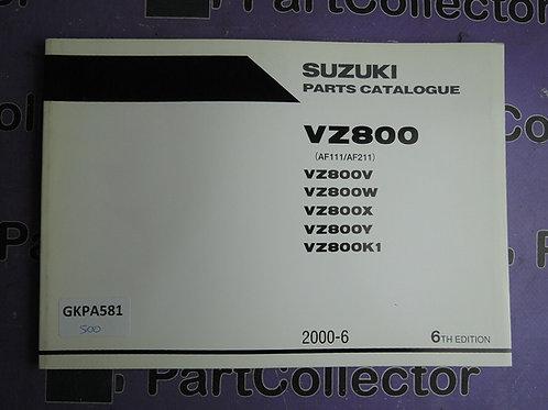 2000-6 SUZUKI VZ800 PARTS CATALOGUE 9900B-30112-040