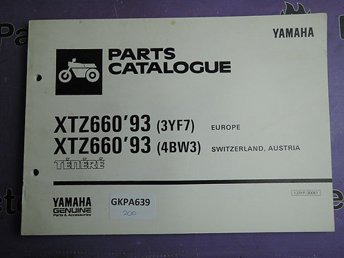 1993 YAMAHA XTZ660 PARTS CATALOGUE 133YF-300E1
