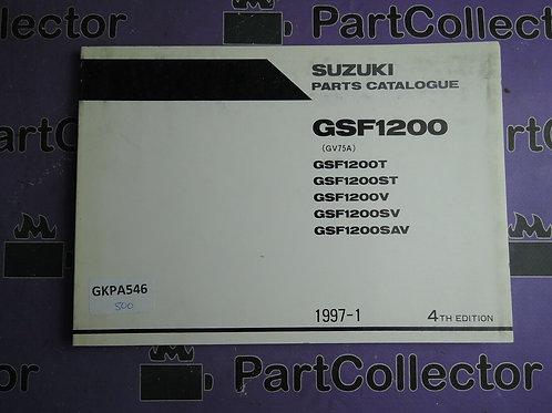 1997-1 SUZUKI GSF1200 PARTS CATALOGUE 9900B-30104-011