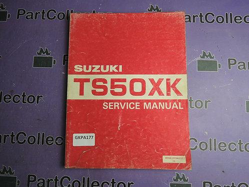 1881 SUZUKI TS50XK MANUAL SERVICE 99500-20144-01E