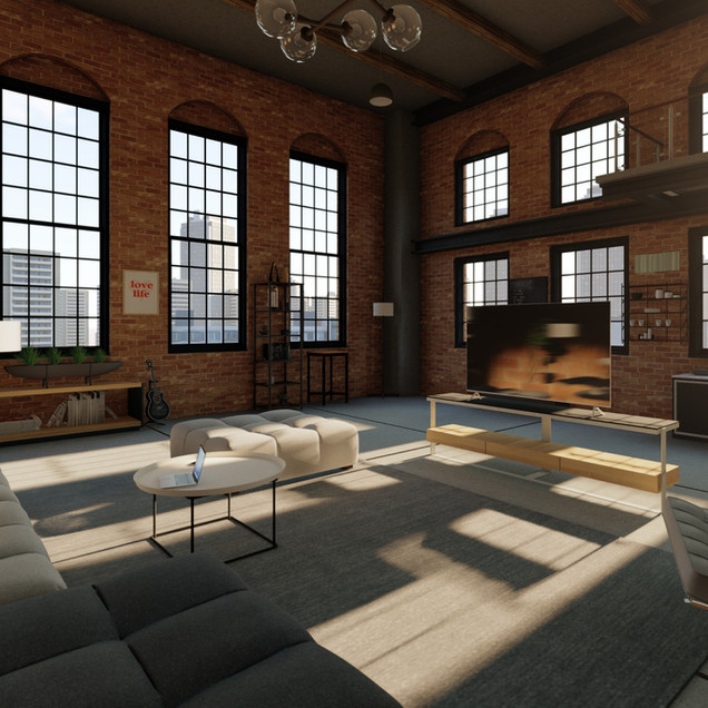 Industrial Style Studio Apartment
