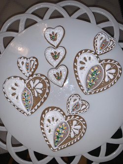 Hungarian gingerbread painted