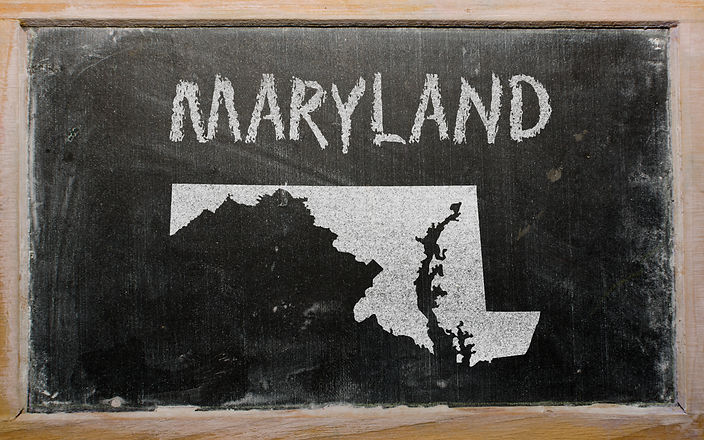 drawing of american state of maryland on