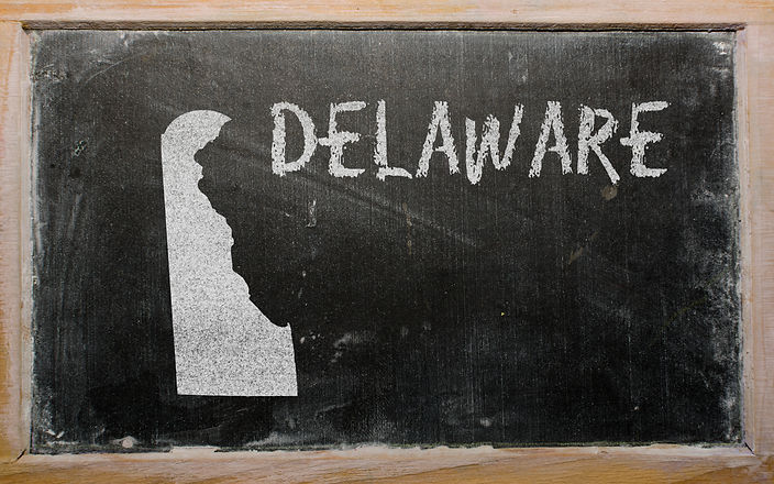 drawing of american state of delaware on