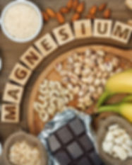 Products containing magnesium: bananas,