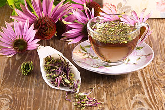 Tea drink with Echinacea purpurea (Echin
