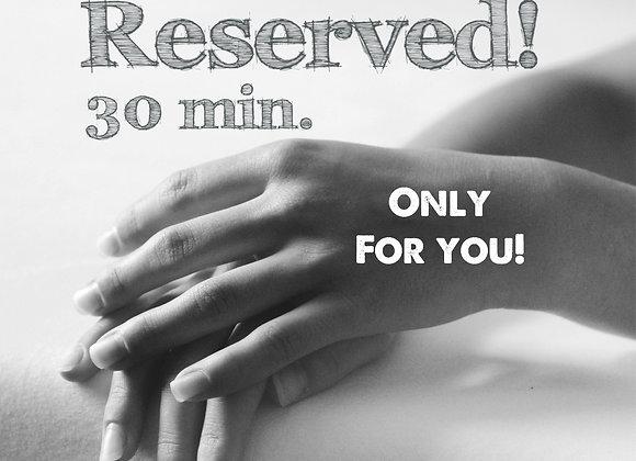 30 min. VIP behandeltijd all-in