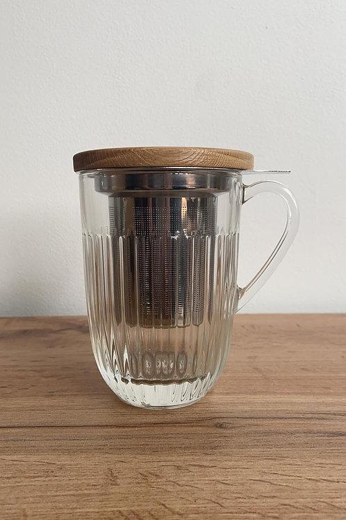 3-delige thee mok met super fijn vergietje