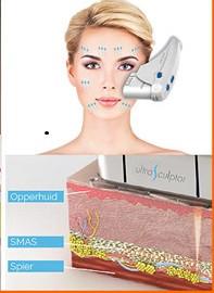 Een natuurlijke facelift met HIFU dmv van echo en ultrasound collageenaanmaak stimuleren in de diepere huidlagen