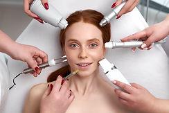 pleased woman keen on beauty procedures,