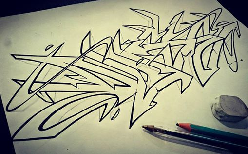 oneduse inkletterz graffiti sketch