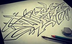 oneduse inkletterz graffiti sketch