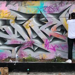 lettrage incrusté graffiti 3d wild style