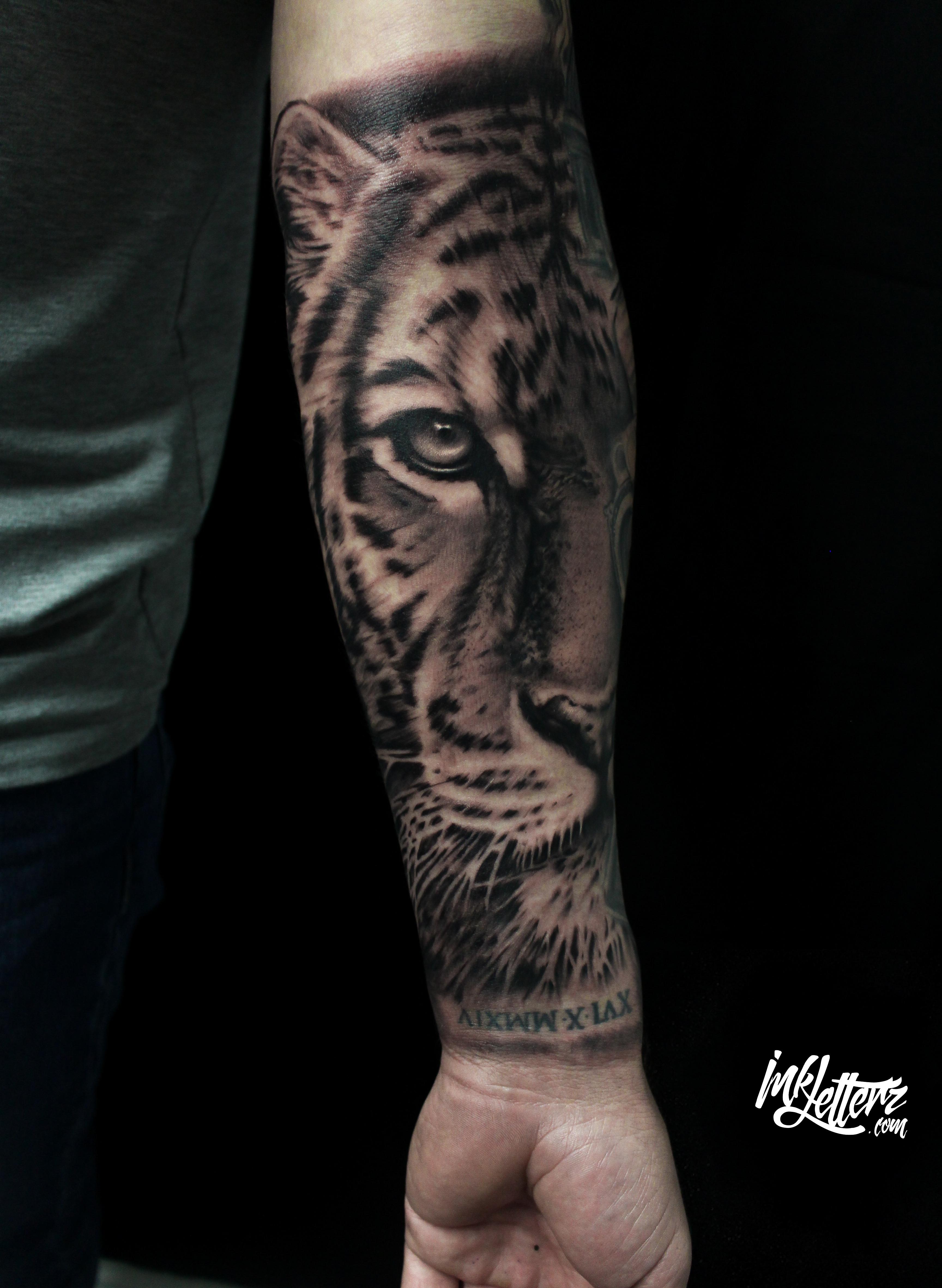 tigre realiste tatouage toulouse
