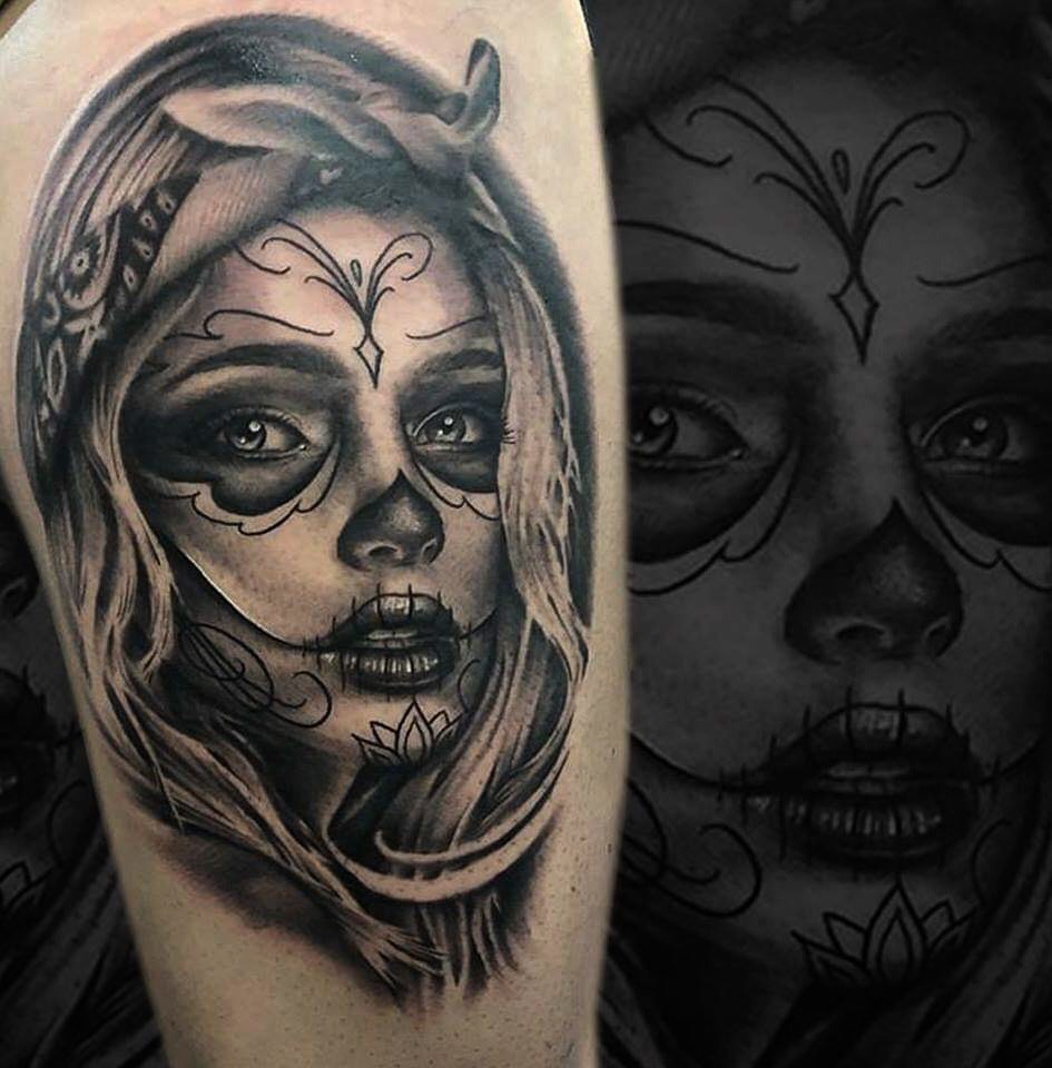 catrina tattoo toulouse portrait