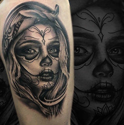 catrina tattoo toulouse portrait