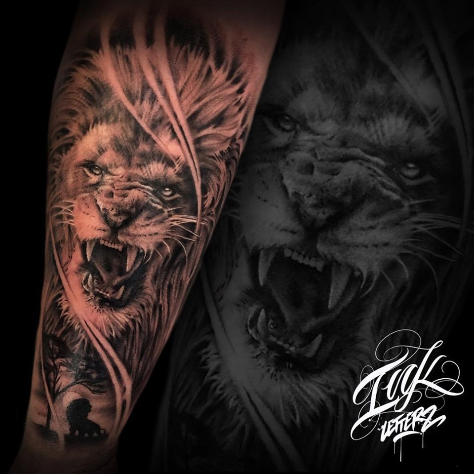 lion tattoo tatoueur toulouse