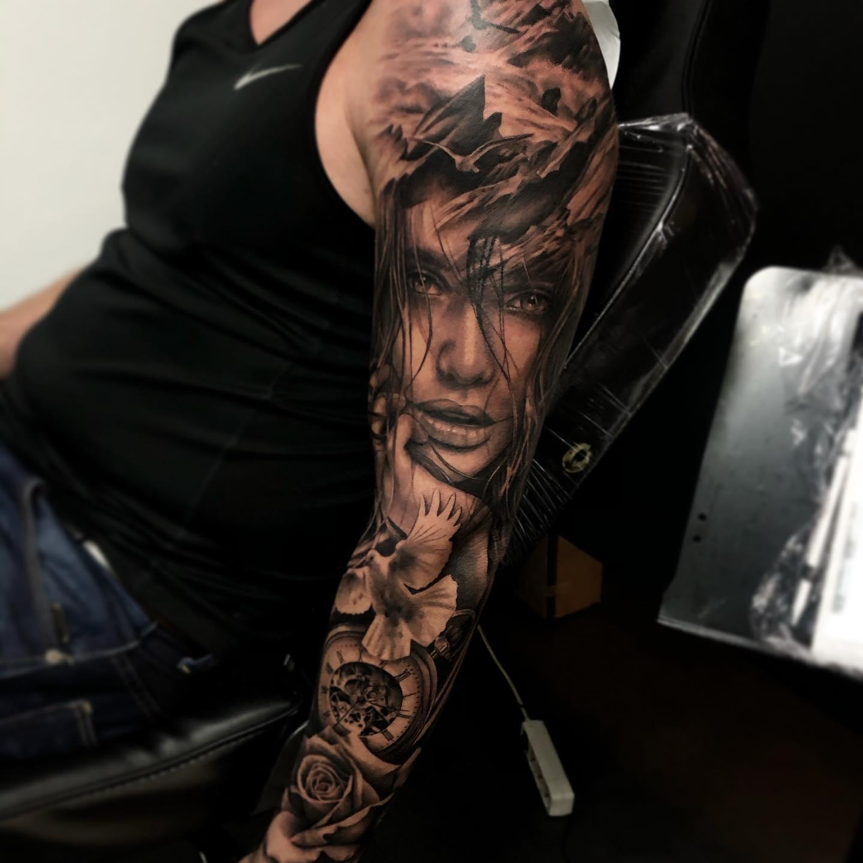 tatoueur toulouse bras complet