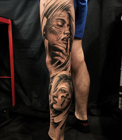 toulouse tattoo convention 2020 portrait religieux jambe