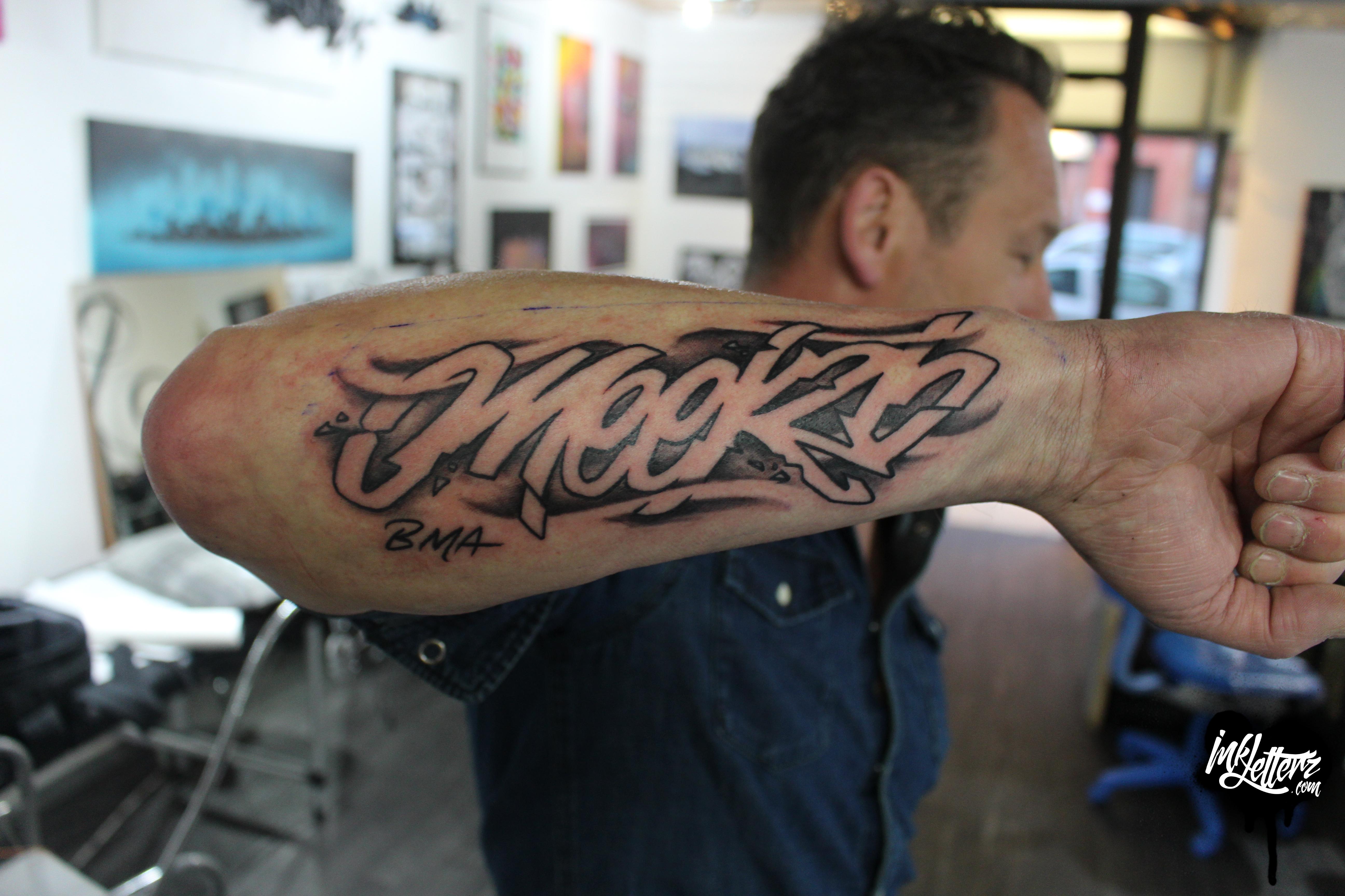 lettrage tatoueur toulouse prénom