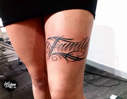 family tattoo lettrage toulouse