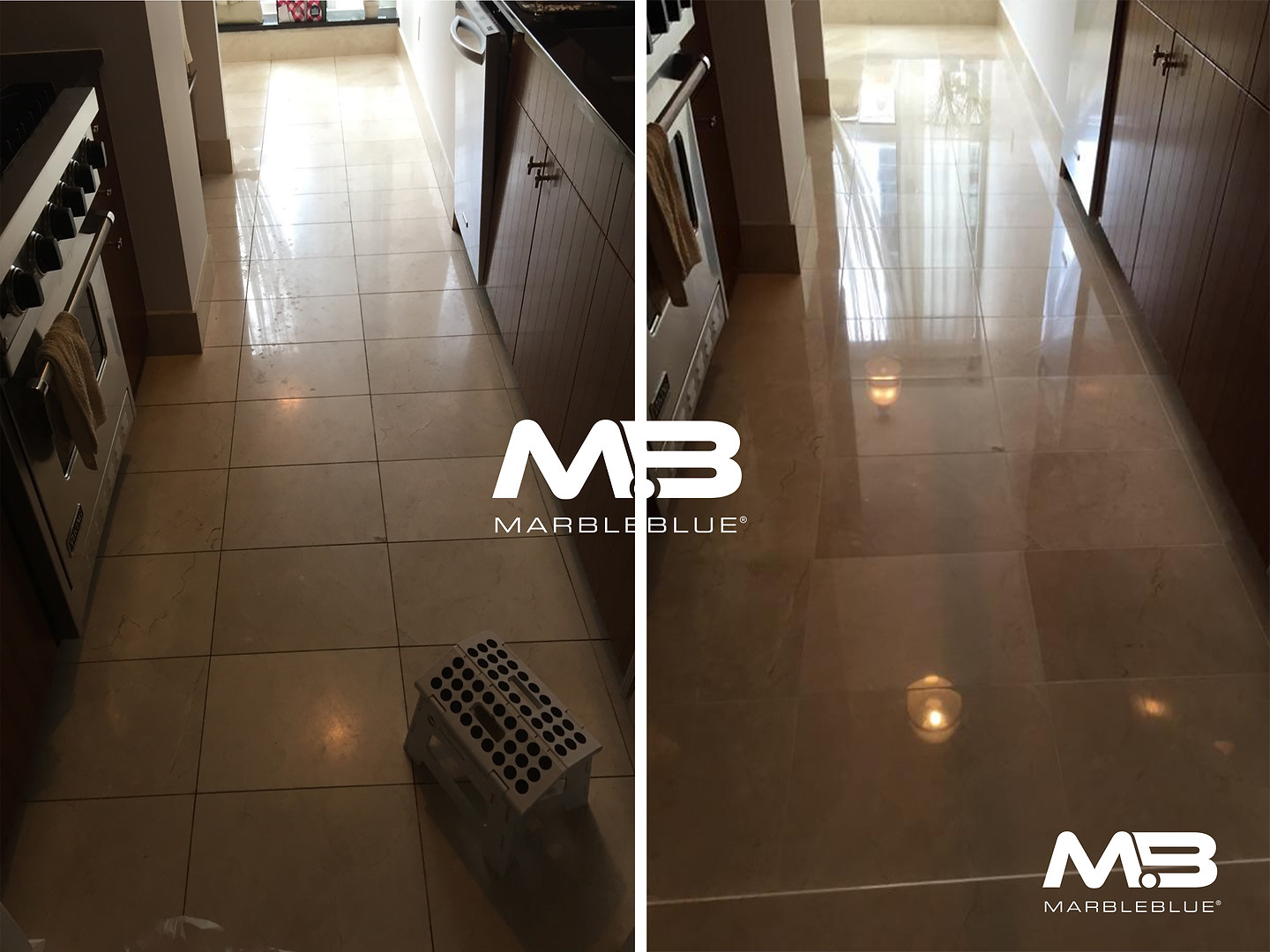 Before and After 2017 MB Marble Kitchen