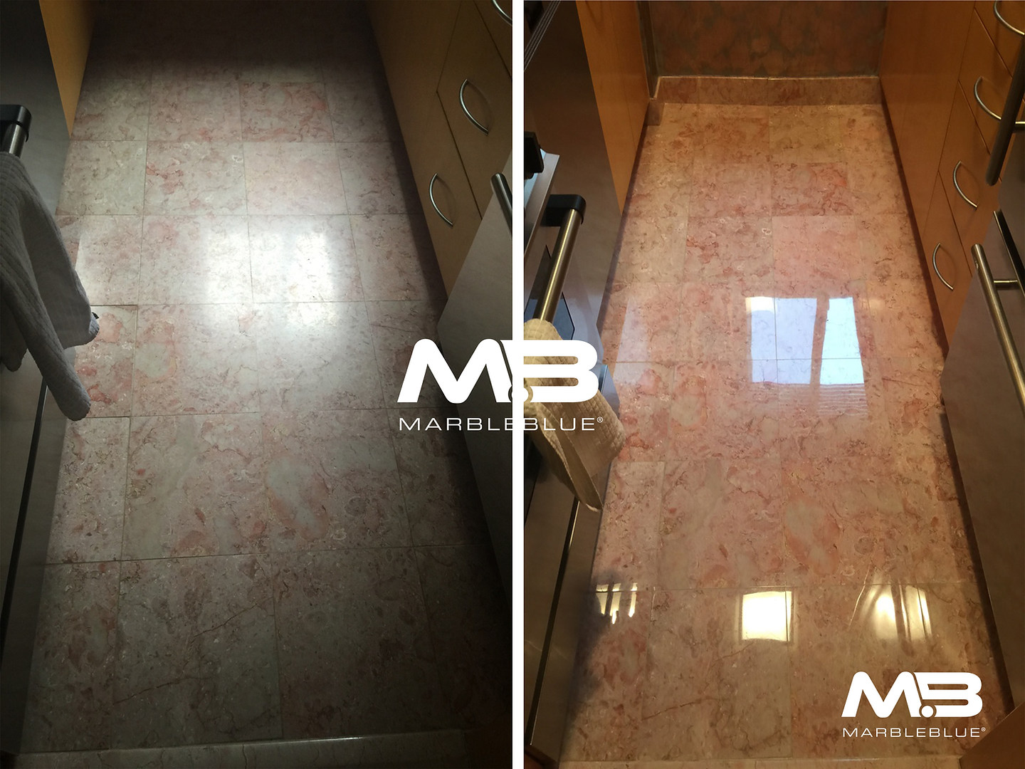 Before and After 2017 MB Marble Foyer Fl