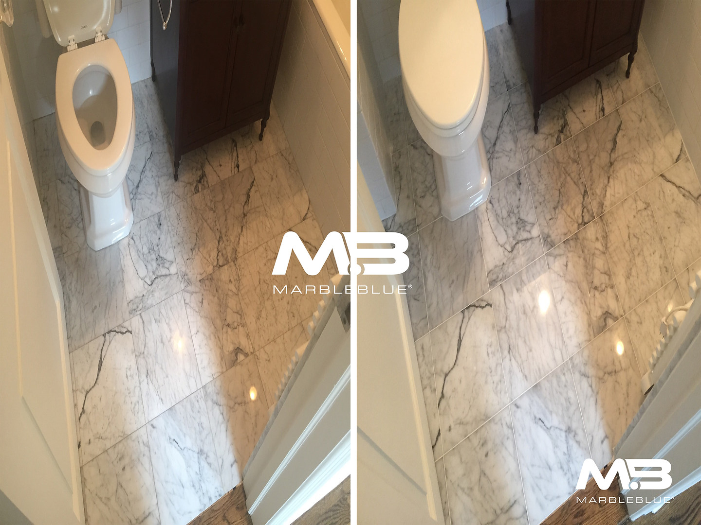 Before and After 2017 MB Marble BAthroom