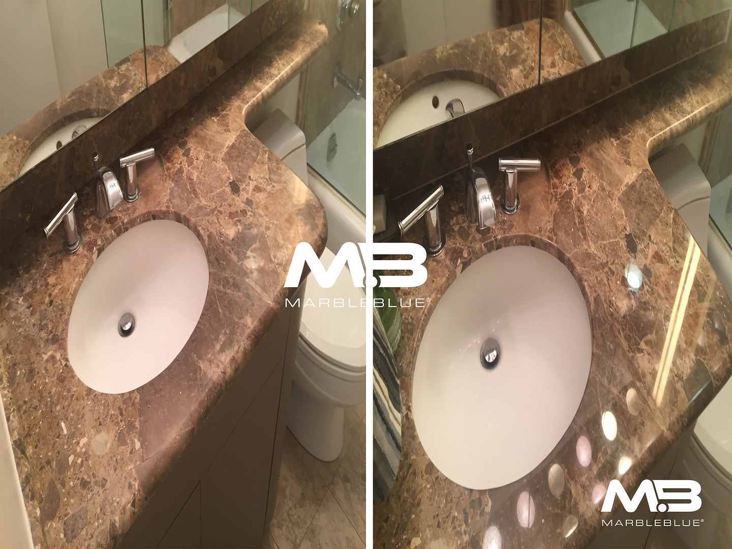 Before and After 2017 MB Marble Vanity T