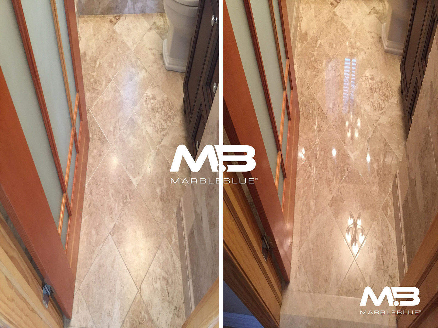 Before and After 2017 MB Marble Floor Re