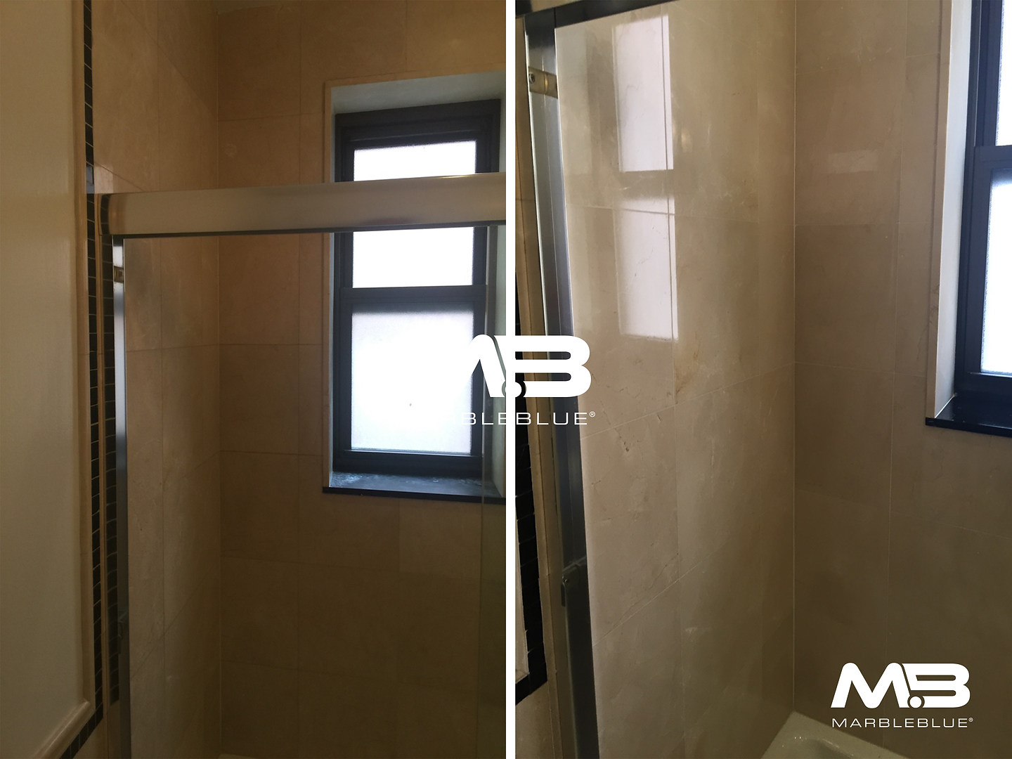 Before and After 2017 MB Marble Shower W