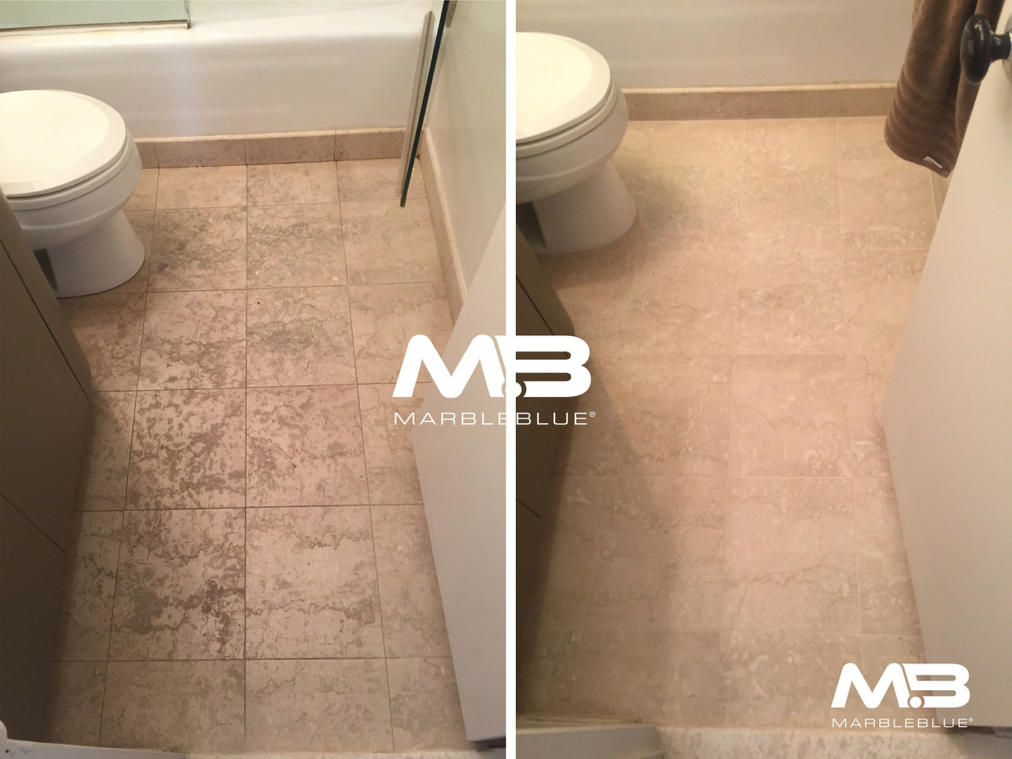 Before and After 2017 MB Limestone Floor
