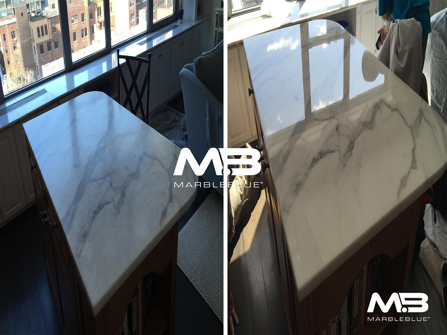 Before and After 2017 MB Marble Table To