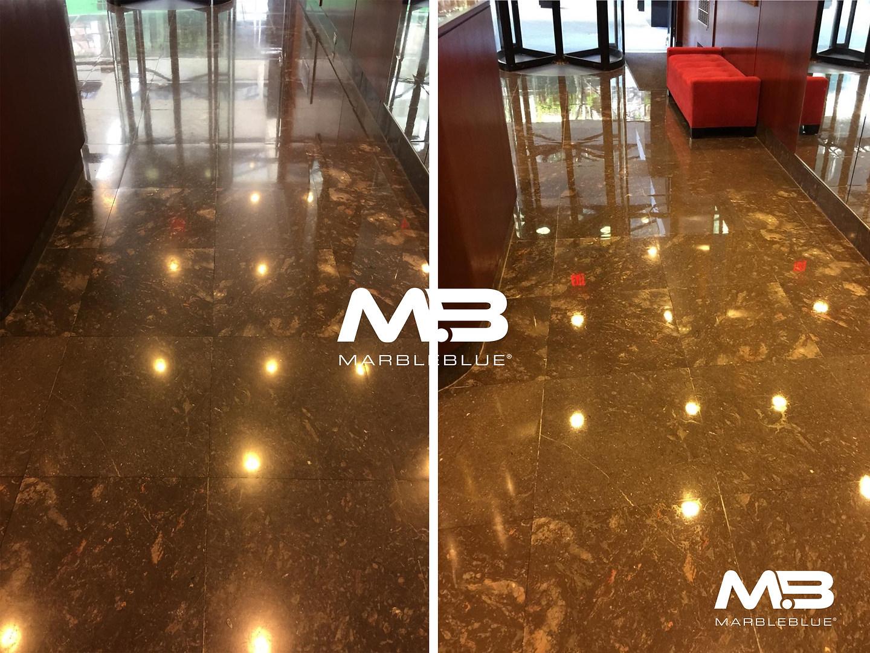 Lobby Floor Polishing