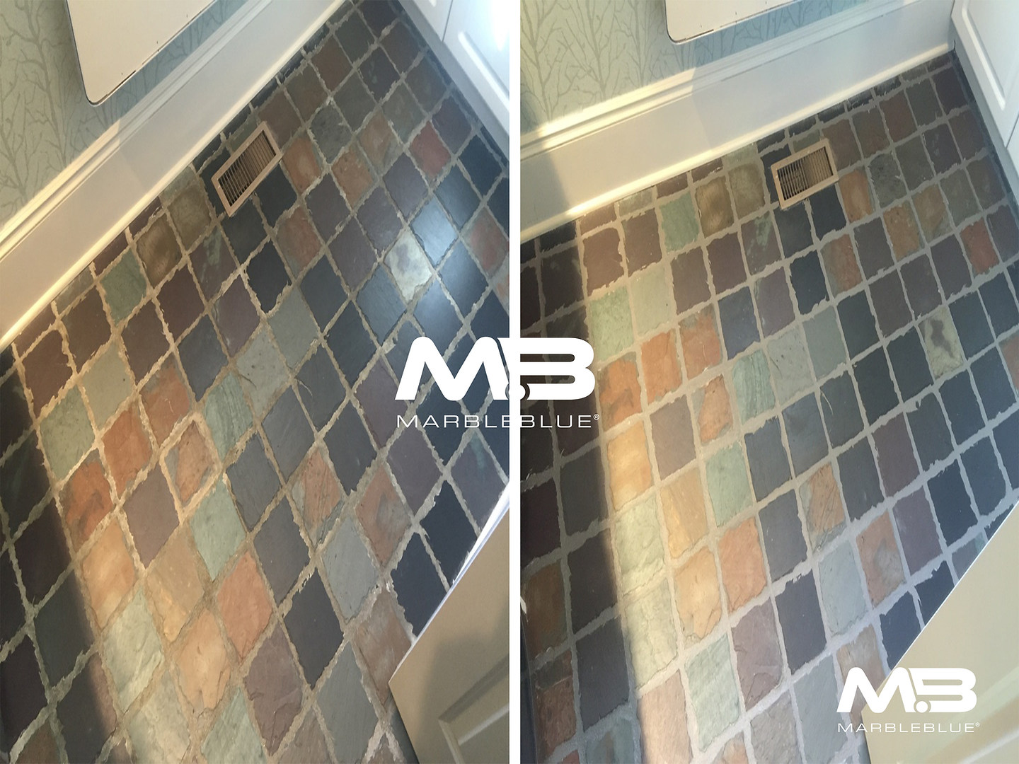 Before and After 2017 MB Slate and Grout