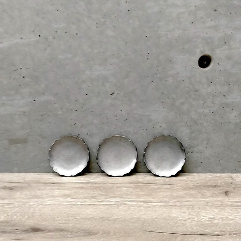 T-11 輪花豆皿3点set 銀