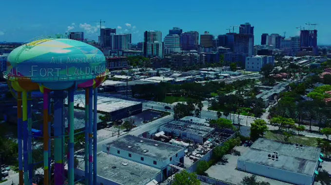 Drone footage of the Tower Lights project. Video credit @andrewtakesflight