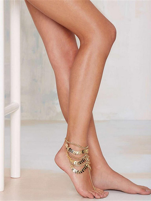 Gold Barefoot Ankle Chain