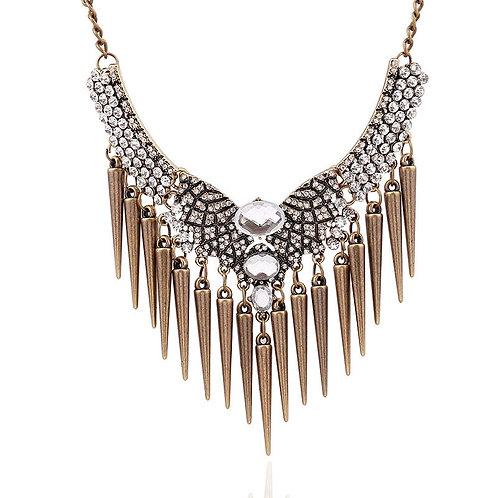 Crystal Bib Choker Necklace