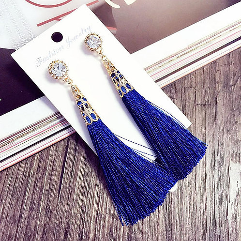 Boho Crystal Tassel Earrings