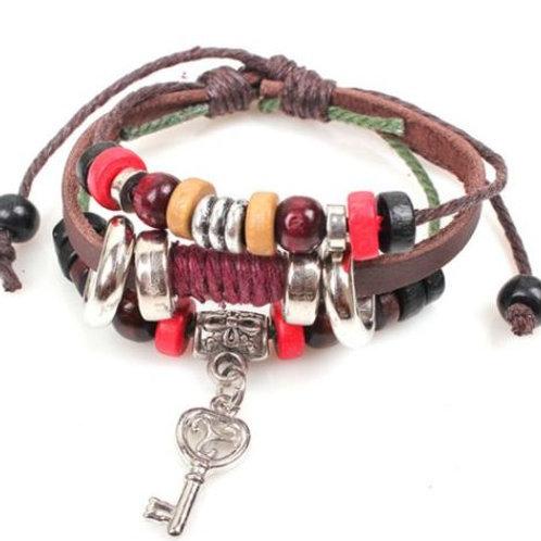Infinity Leather Charm Bracelet
