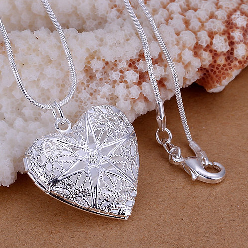 Shining Star 925 Sterling Silver Heart Necklace