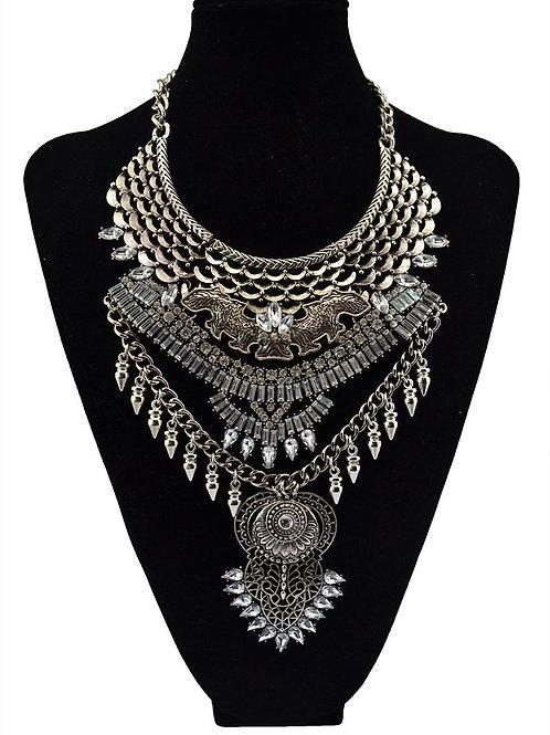 Bohemian Style Rhinestone Necklace