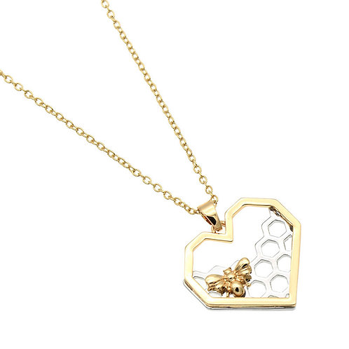 Honey Cone Heart Necklace