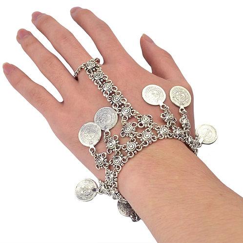 Bohemian Coin Tassel Bracelet