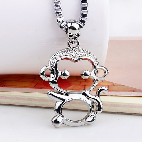 One Monkey Don't Stop No Show Silver Necklace