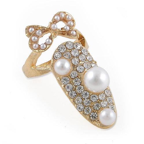 Crown Crystal Fingertip Ring